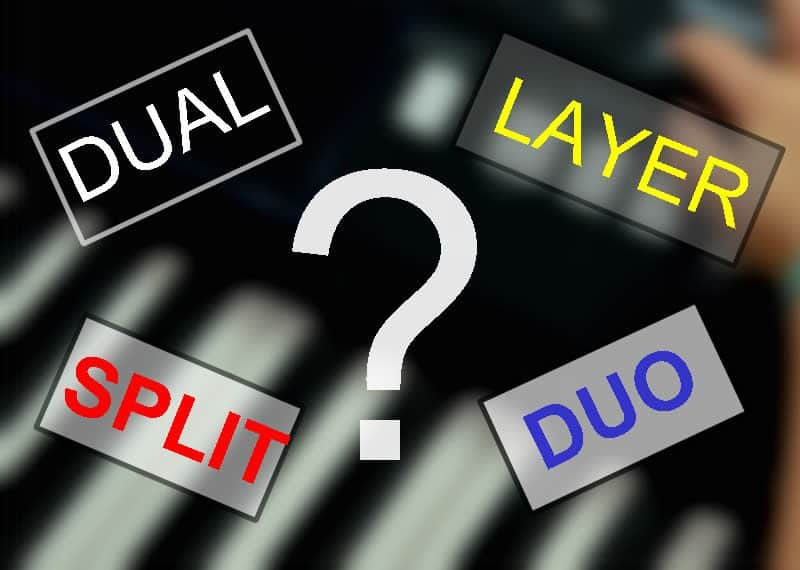 Dual-, Layer-, Split-, Duo- oder Duett-Funktion